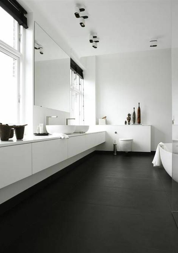 modernes badezimmer ideen zur inspiration 140 fotos bathroom pinterest. Black Bedroom Furniture Sets. Home Design Ideas