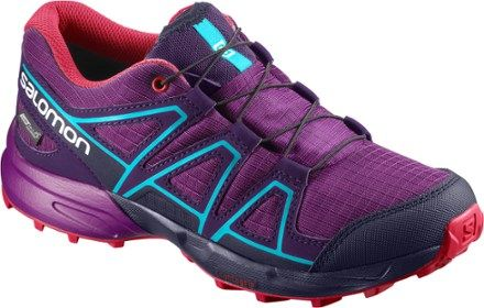 babbc472a598 Salomon Speedcross CSWP J Trail-Running Shoes Grape Juice Evening Blue 2 Kids  Kids
