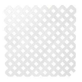 1 8 X 4 X 8 White Privacy Vinyl Lattice 29 97 Lowes Lattice Deckorators Plastic Lattice