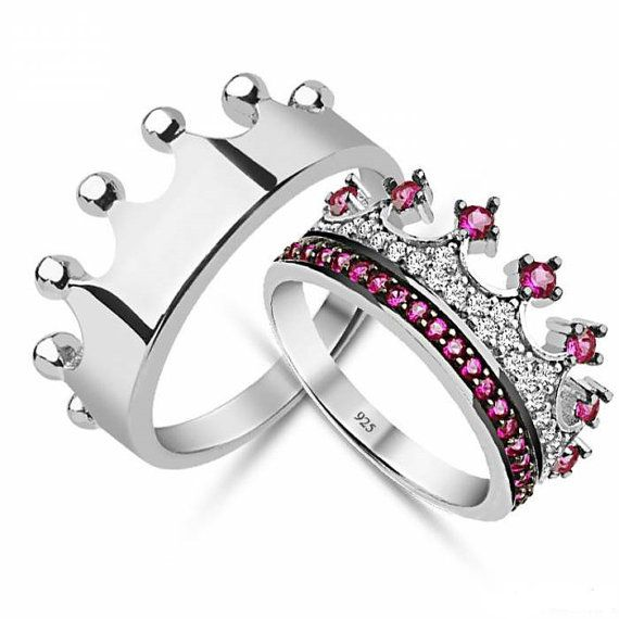 King \u0026 Queen.925k silver decorated with high by UNIQUENEWLINE