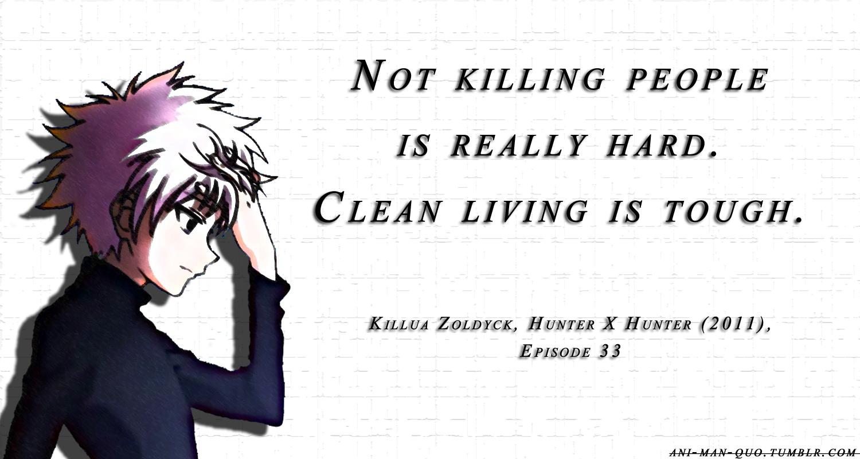 anime quotes   Hunter x hunter, Killua, Manga quotes