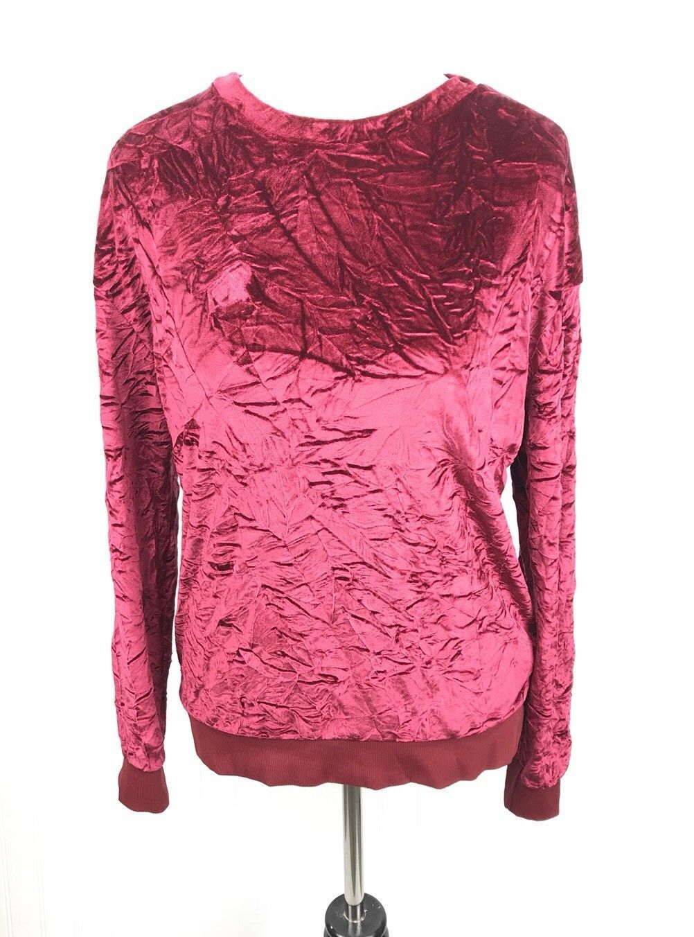 106e458d2f6 17.10 | Zara Collection Crushed Velvet Pullover Top US Size Small ...