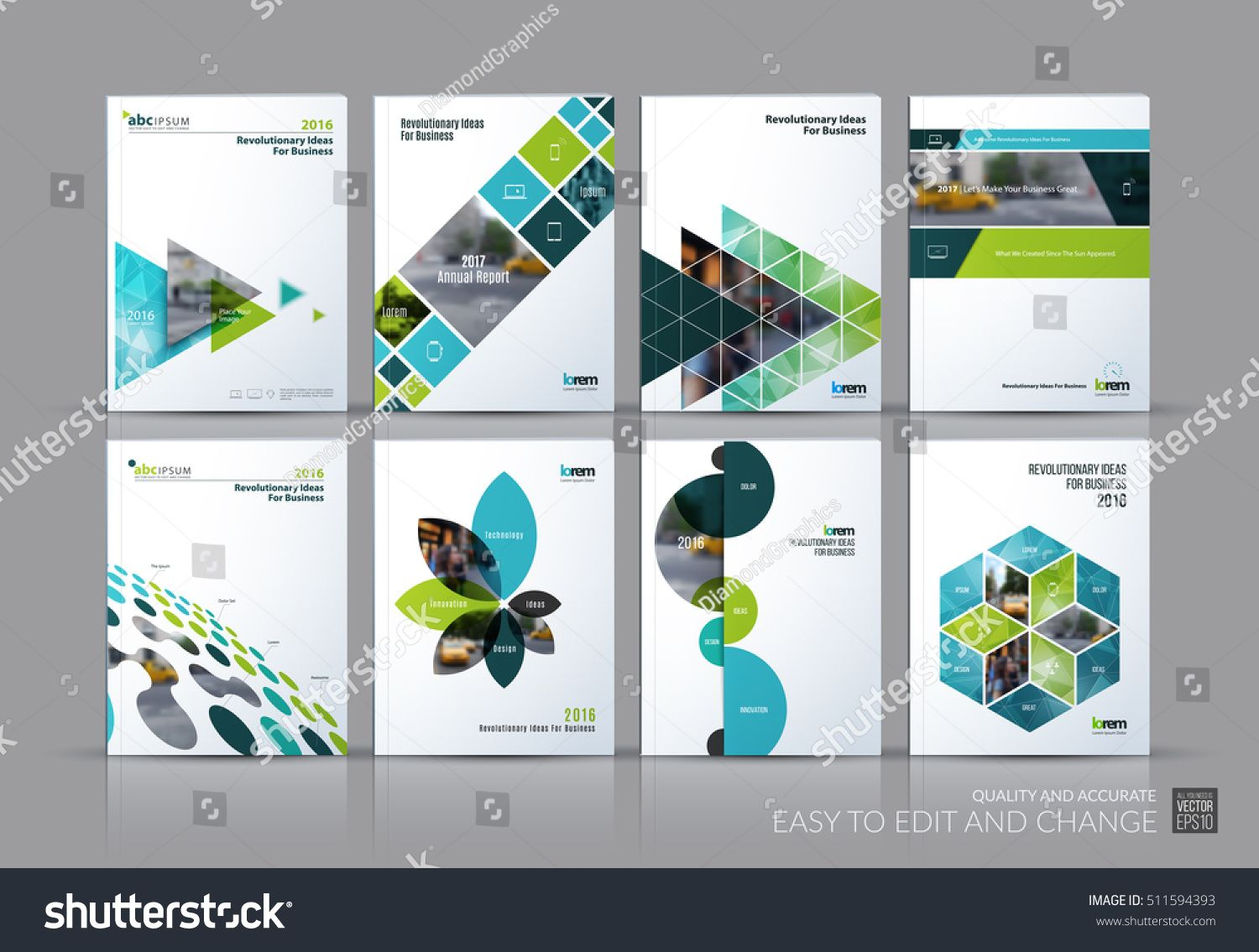 Business vector set. Brochure template layout, cover design annual ...