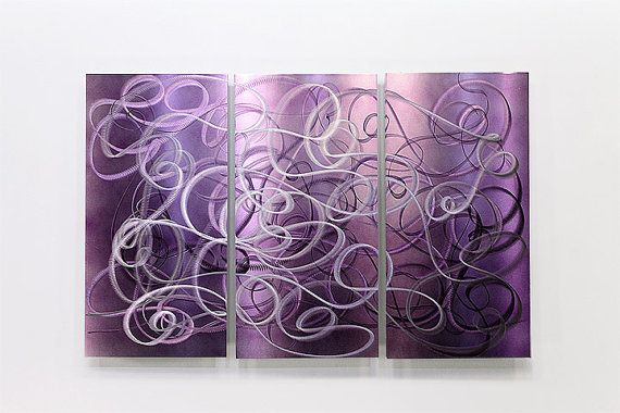 Ordinaire It Is My Pleasure To Offer You This Signed Confused Passion Multi Panel  Original Metal Abstract · Purple PaintingAbstract Metal Wall ArtMetal ...