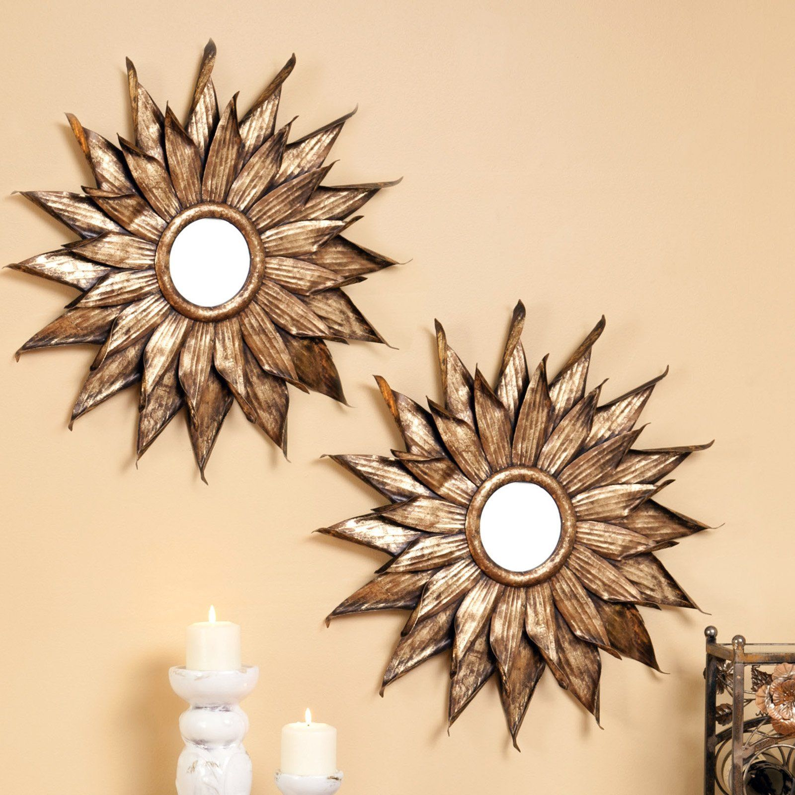 Wall Mirror Sets have to have it. evergreen enterprises metal sunflower wall mirror