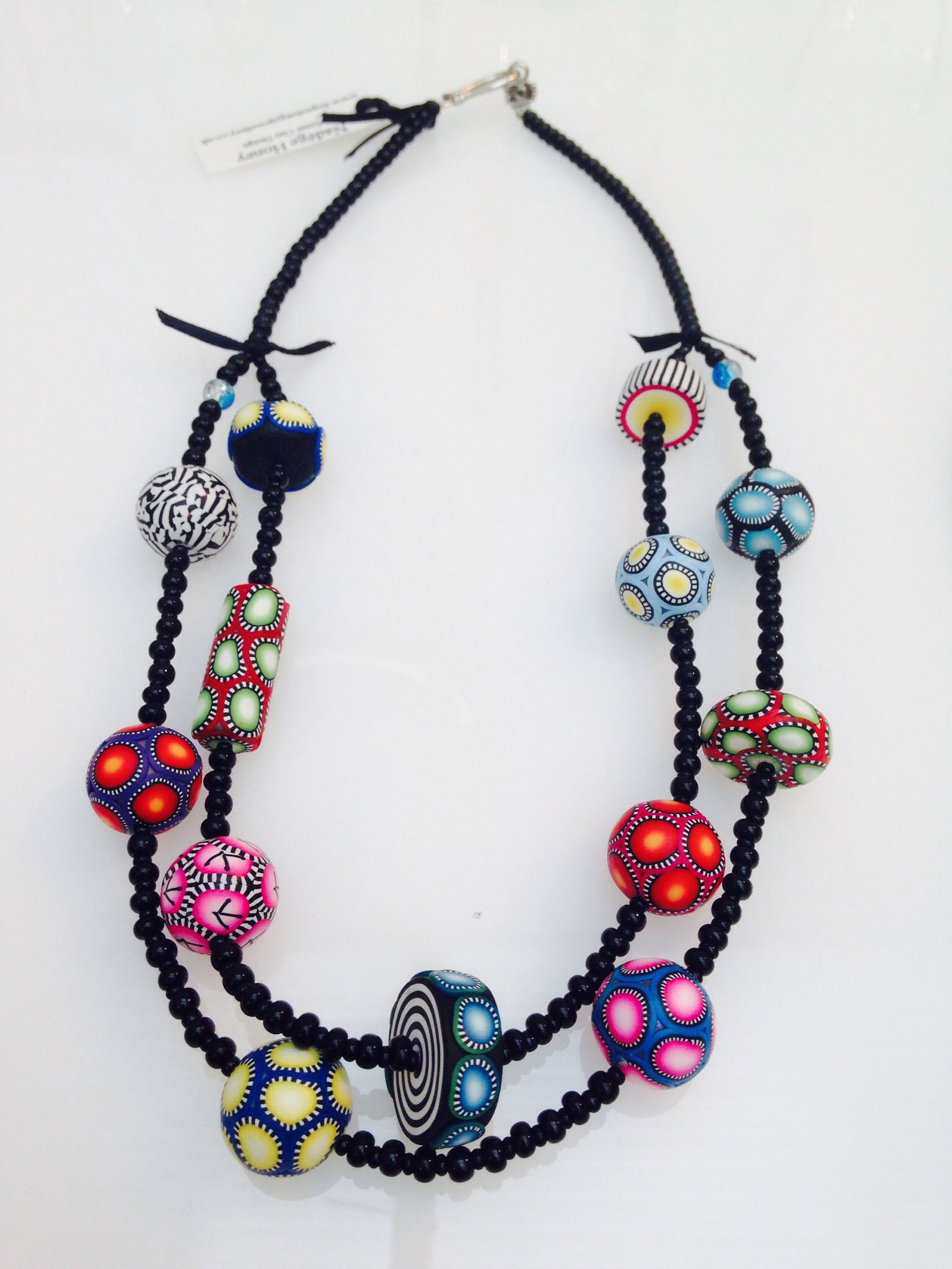 Necklace by Nadege Honey (Hope Design), polymer clay.