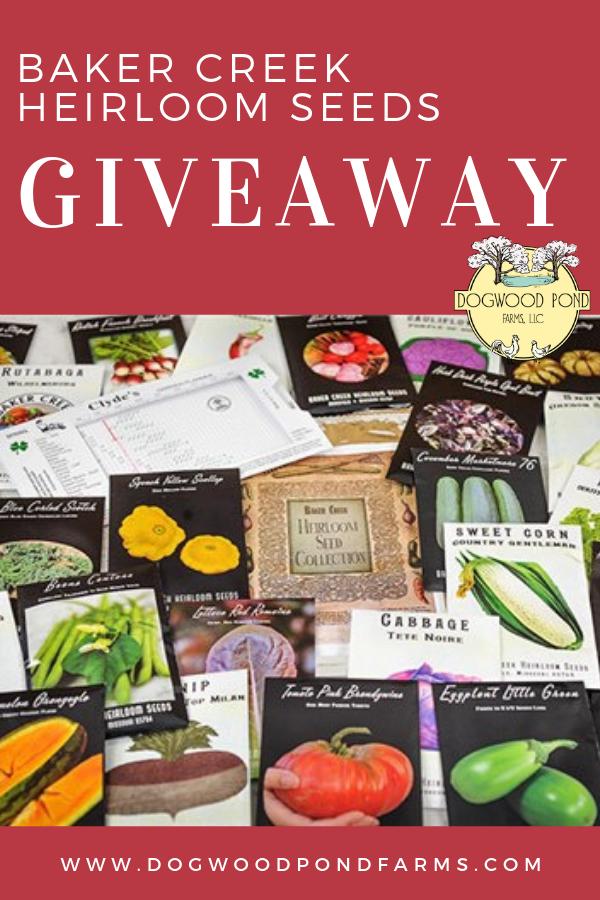 Giveaway Baker Creek Seeds Heirloom Seeds Collection