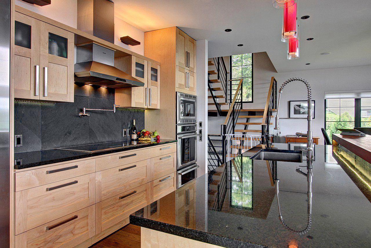 cuisine ardoise et bois int rieur pinterest de couleurs de cuisine bois et couleurs de. Black Bedroom Furniture Sets. Home Design Ideas