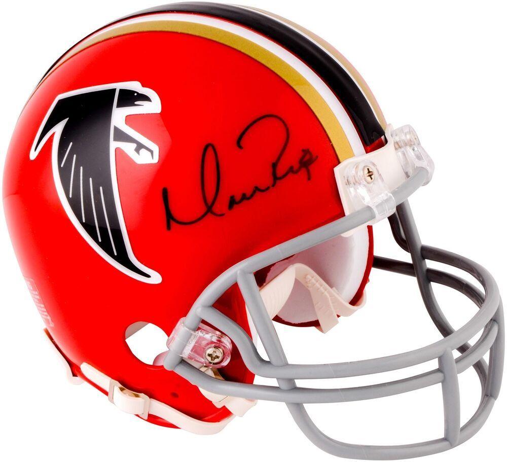 Matt Ryan Atlanta Falcons Autographed Red Throwback Riddell Mini Helmet Footballhelmet Sportsmemor Football Helmets Atlanta Falcons Atlanta Falcons Matt Ryan