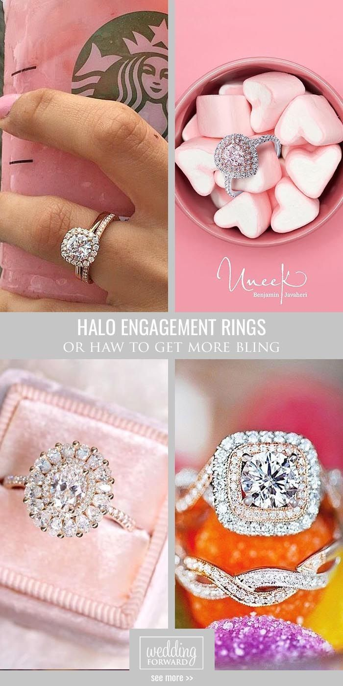 30 Halo Engagement Rings Or How To Get More Bling | Halo engagement ...