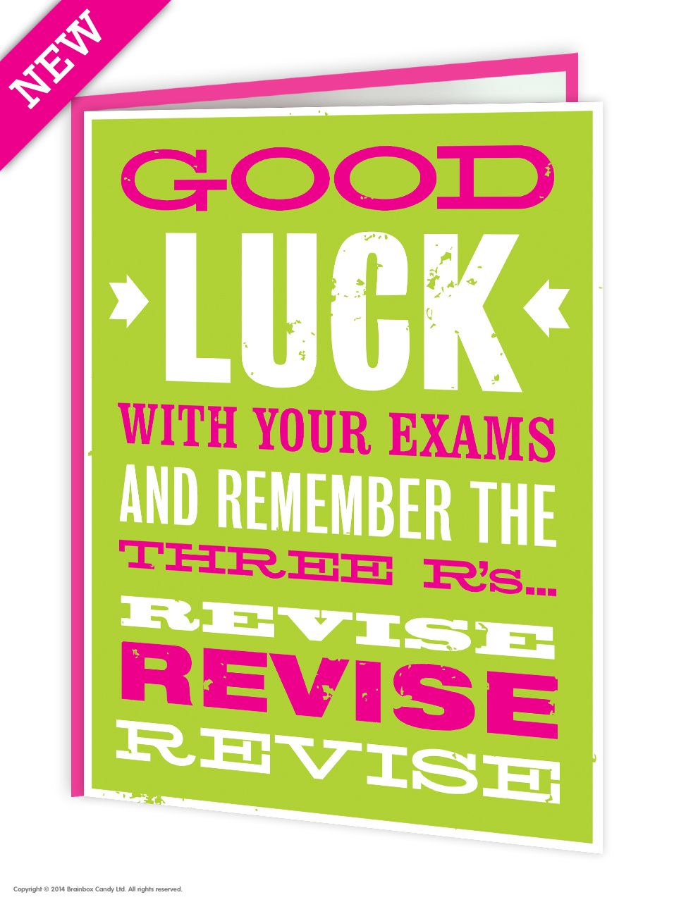 Good luck exams card cards free postage on this brainbox candy good luck exams greetings card designed and manufactured in the uk by us and available to buy here at the best price kristyandbryce Images