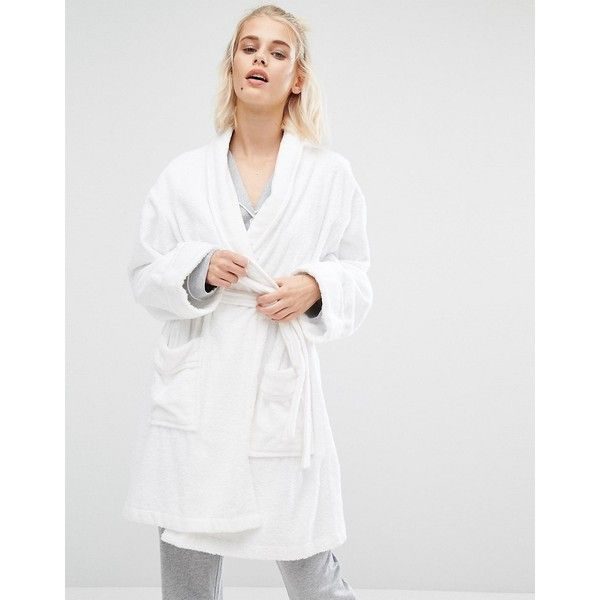 954a603621 DKNY Terry Robe ( 100) ❤ liked on Polyvore featuring intimates ...