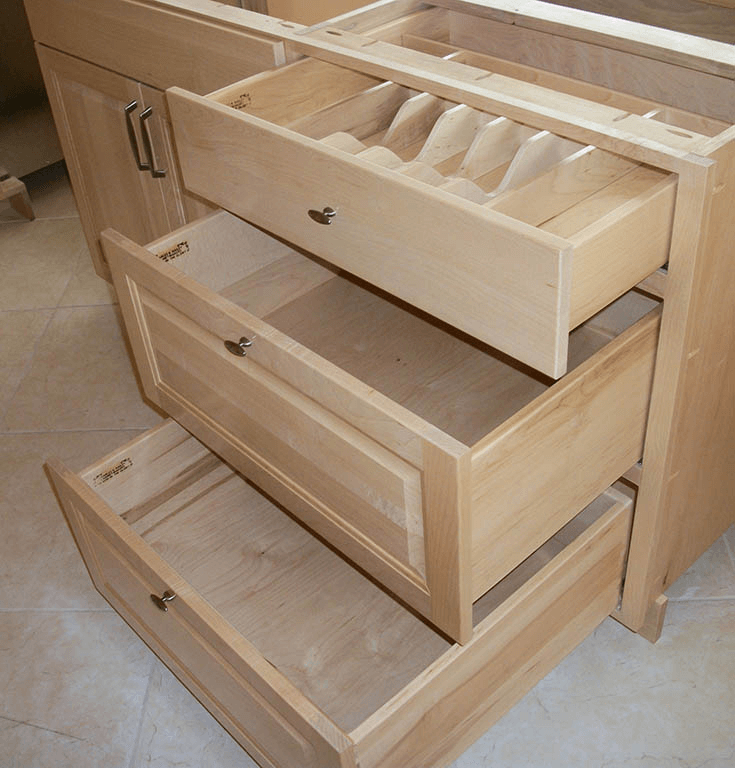 Kitchen Cabinets Drawers Lewis 3 Bank