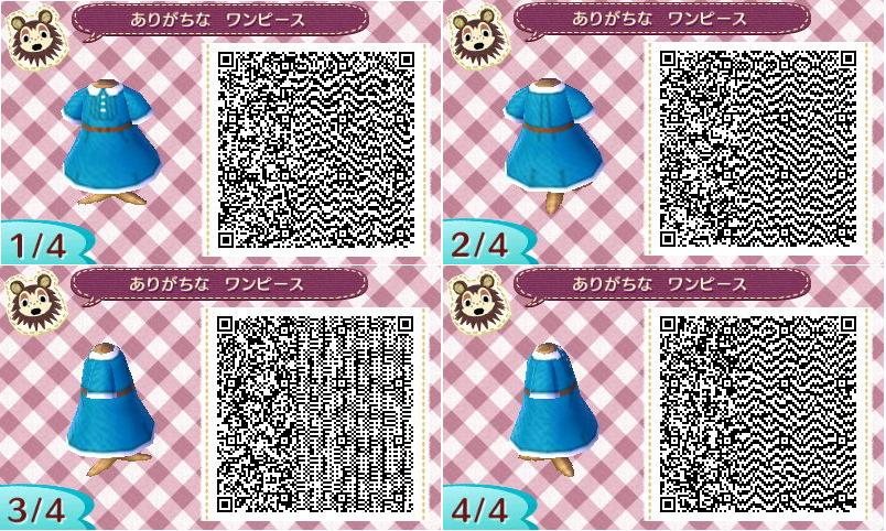 New Leaf Fashion Retro Blue Dress Animal Crossing Animal Crossing Qr New Leaf
