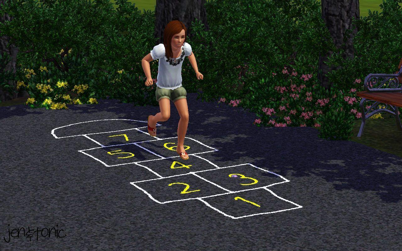 piezoelectric@MTS - Chalk Hopscotch Court +DEFAULT #Sims3