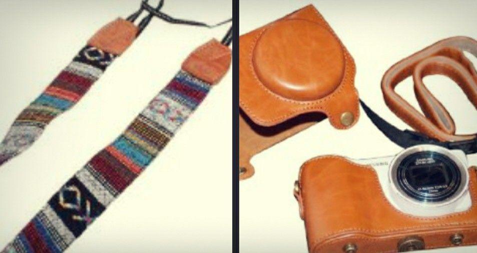Camera case and strap. <3