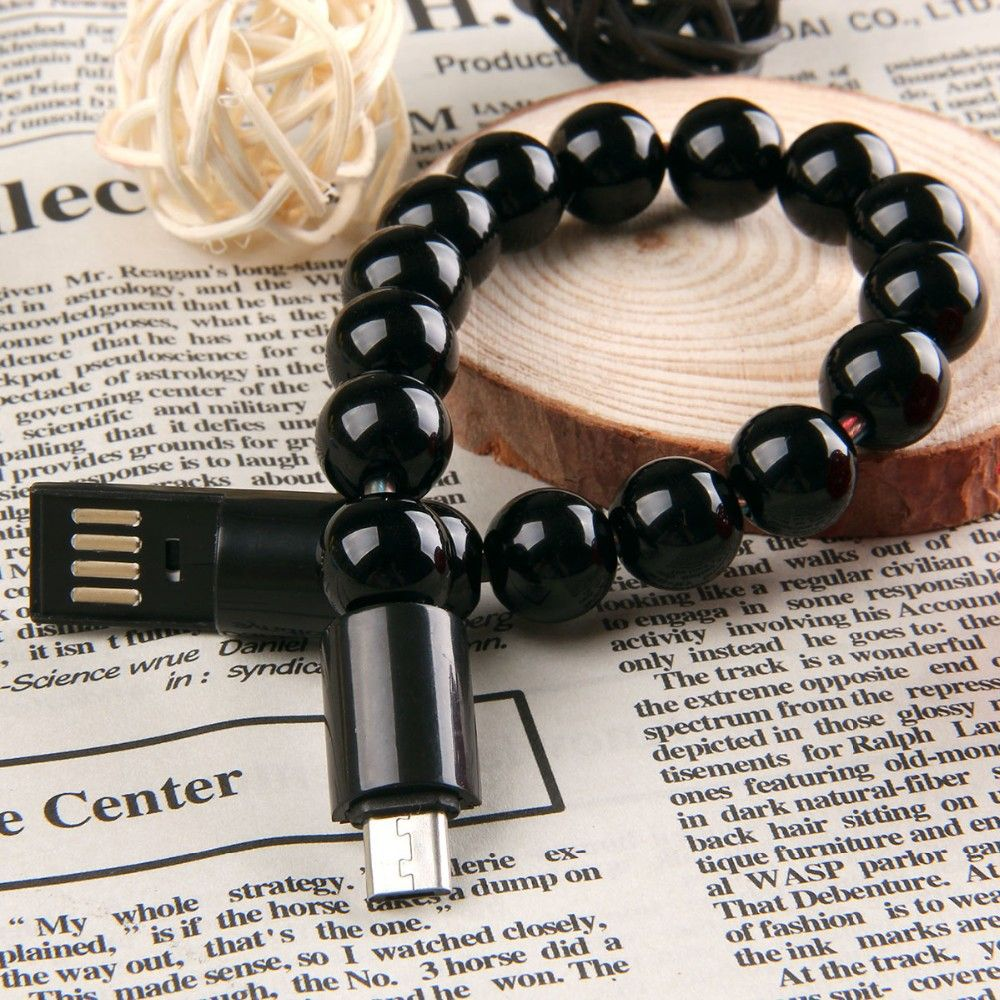 NEW Beads style data line Magnetic Wearable Bracelet Style Micro 5 ...