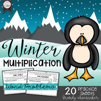 Winter Multiplication   Multiplication practice, Multiplication and ...