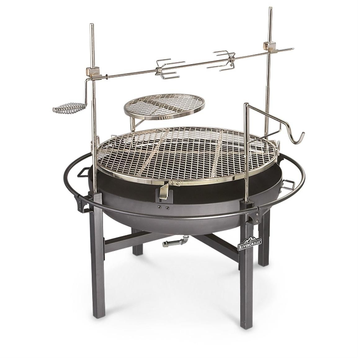 Cowboy Fire Pit Rotisserie Grill 282386 Stoves At Sportsman S Guide Fire Pit Rotisserie Cowboy Fire Pit Fire Pit Grill