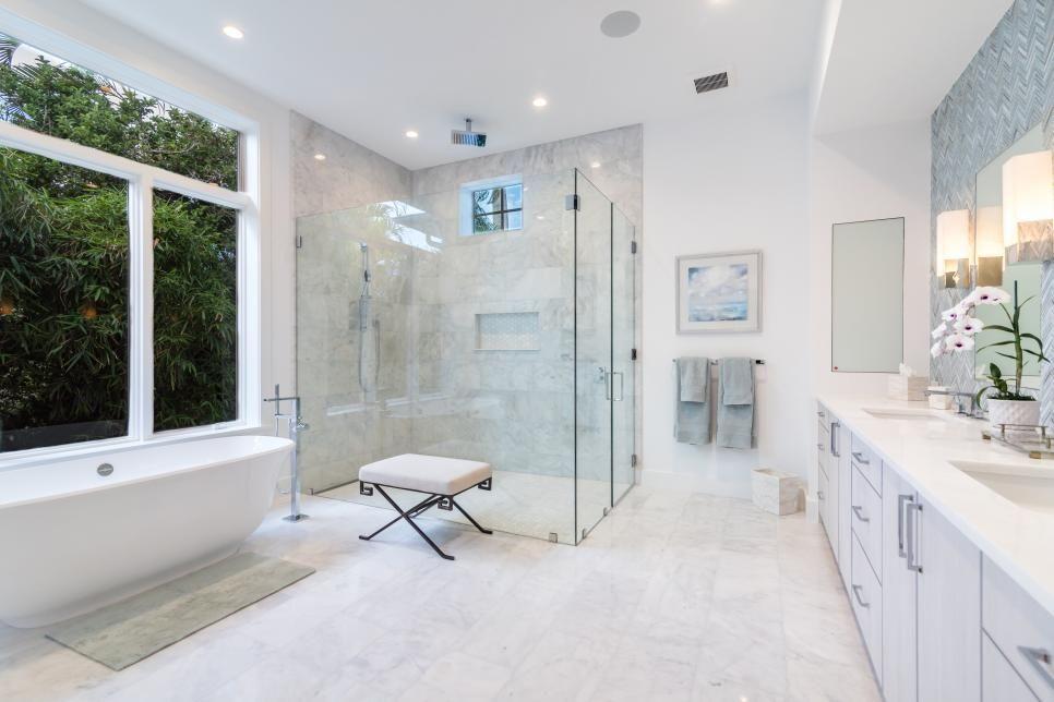 White Spa Bathroom With Tree View Bathroom Spa Bathroom Model