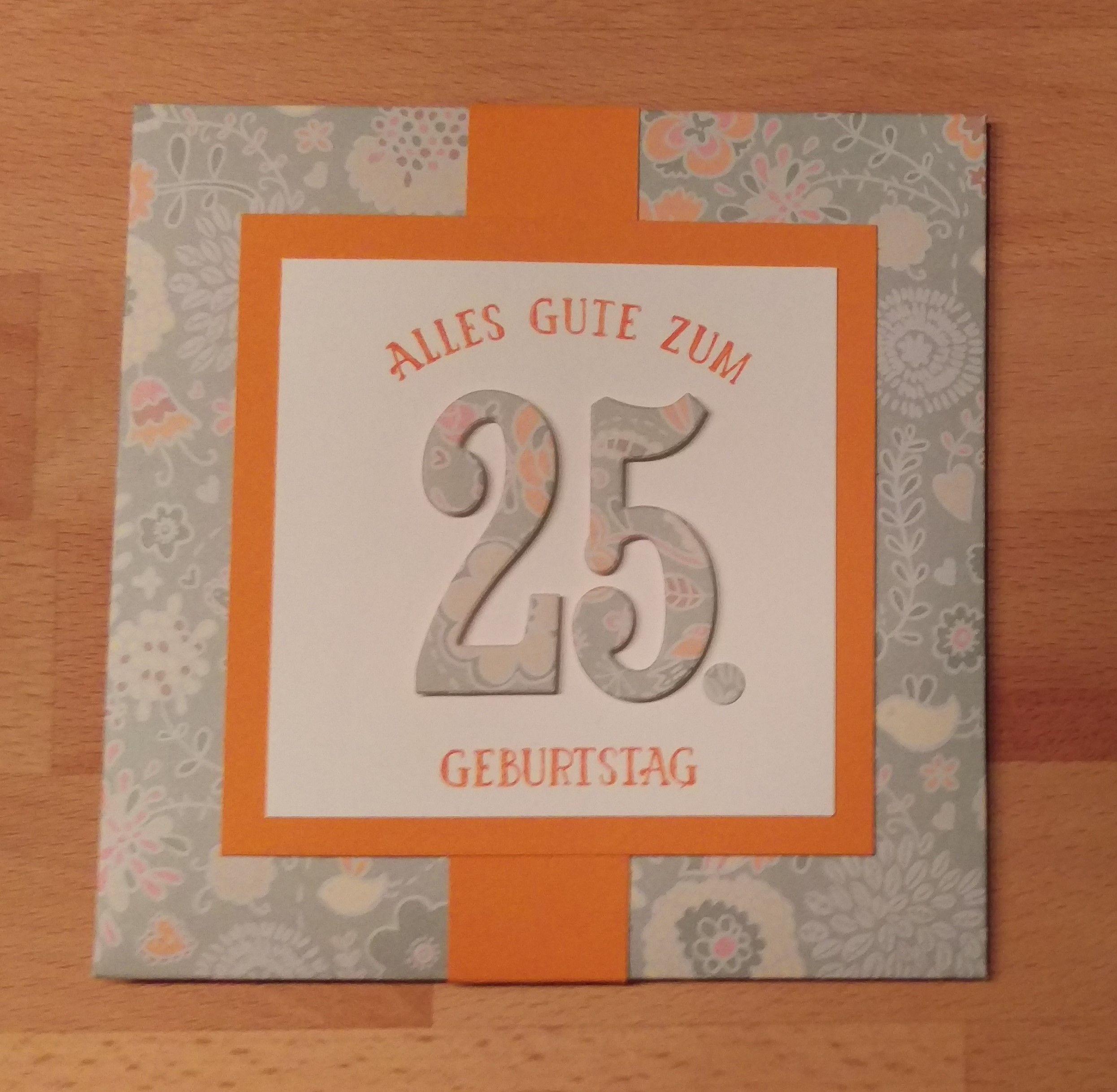 Umschlag Leporello Karte Zum 25 Geburtstag Geburtstag Karten