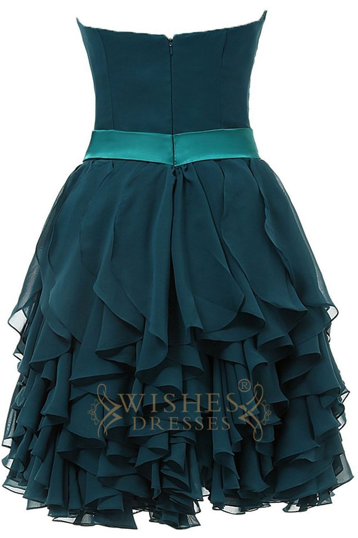 Sweetheart chiffon cascading layers homecoming dresses am