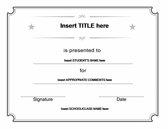 78 Best images about Blank Certificate Templates – Microsoft Office Certificate Template