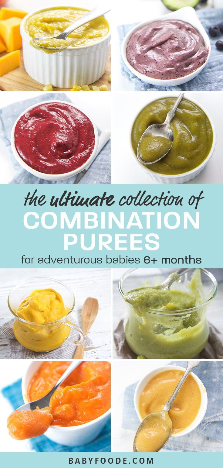 6+ Months Baby Food Recipes (Stage 2 Purees