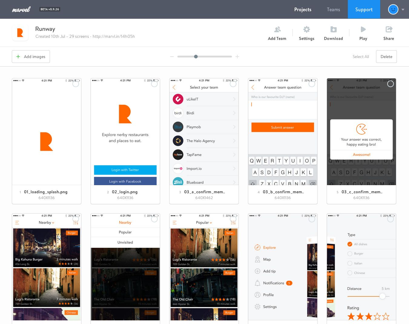 marvel_turn sketches mockups and designs into web iphone ios android and apple - Android Ui Maker