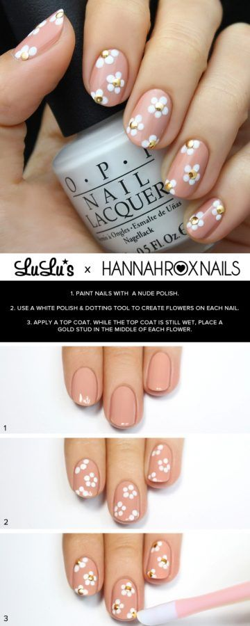 15 Easy to Follow Flower Nail Art Tutorials