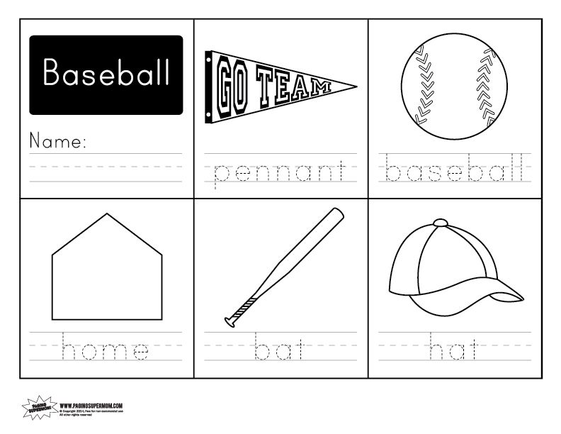 Baseball Handwriting Free Worksheet | Free worksheets, Handwriting ...