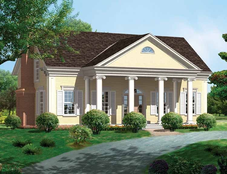 Eplans Greek Revival House Plan - Beautiful Columns - 2291 Square ...