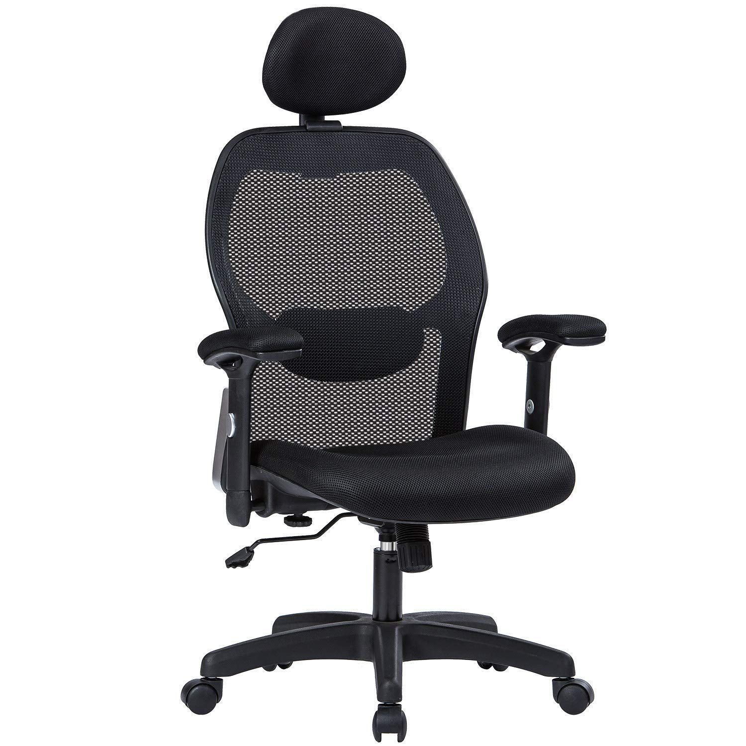 Lianfeng Ergonomic Office Chair High Back Executive Swivel Computer Desk Chair With Adjustable Armrests And Headrest Back Lumbar Support Black Computer Desk Chair Ergonomic Office Chair Ergonomic Chair
