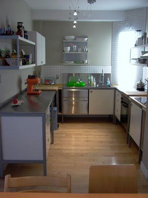 Functional and quite sleek kitchen using Ikea Udden. Again...no ...