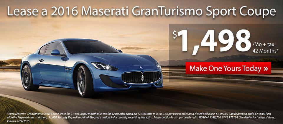 Lease a Maserati Gran Turismo Sport at an amazing price