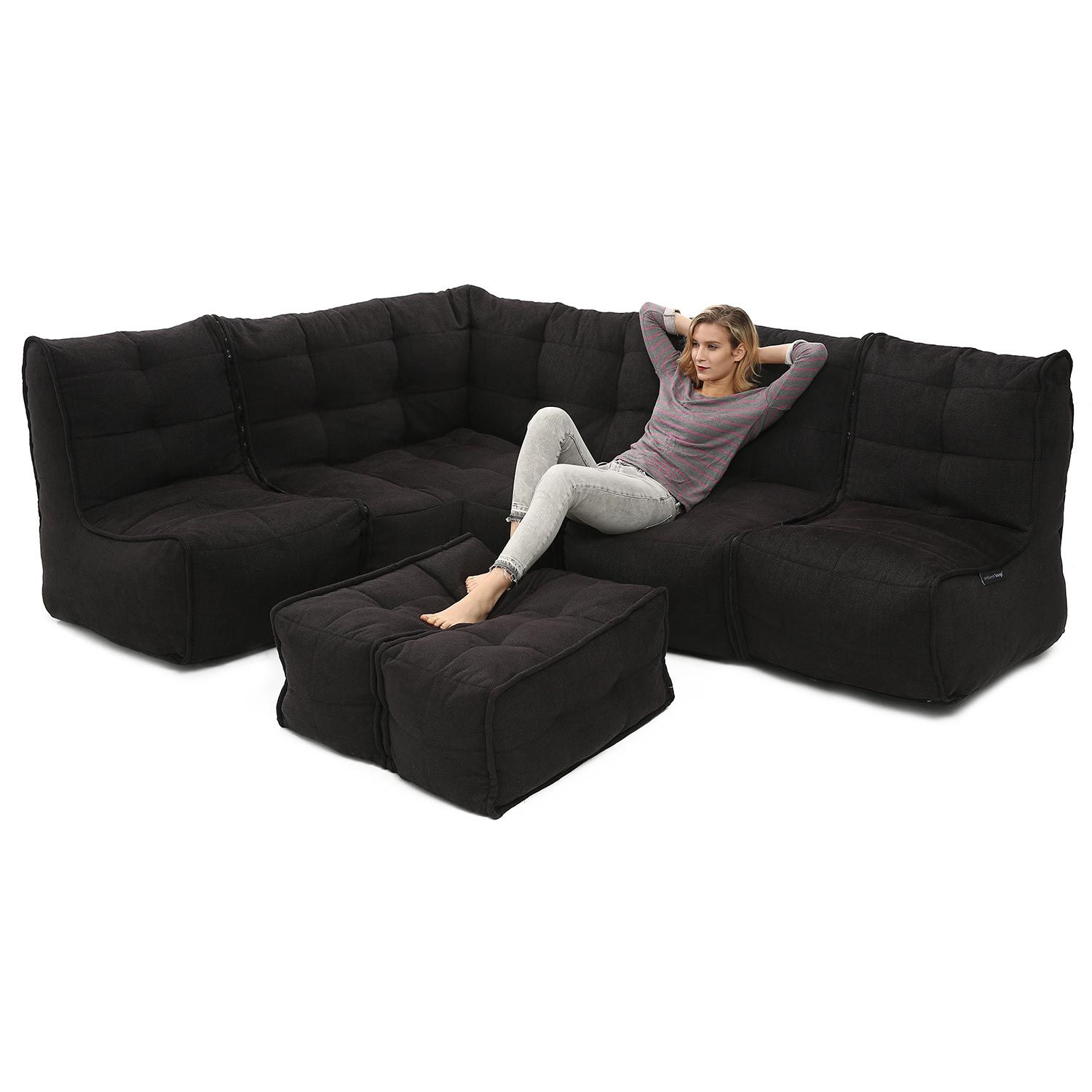 Black Sapphire Modular lounges, Small office furniture