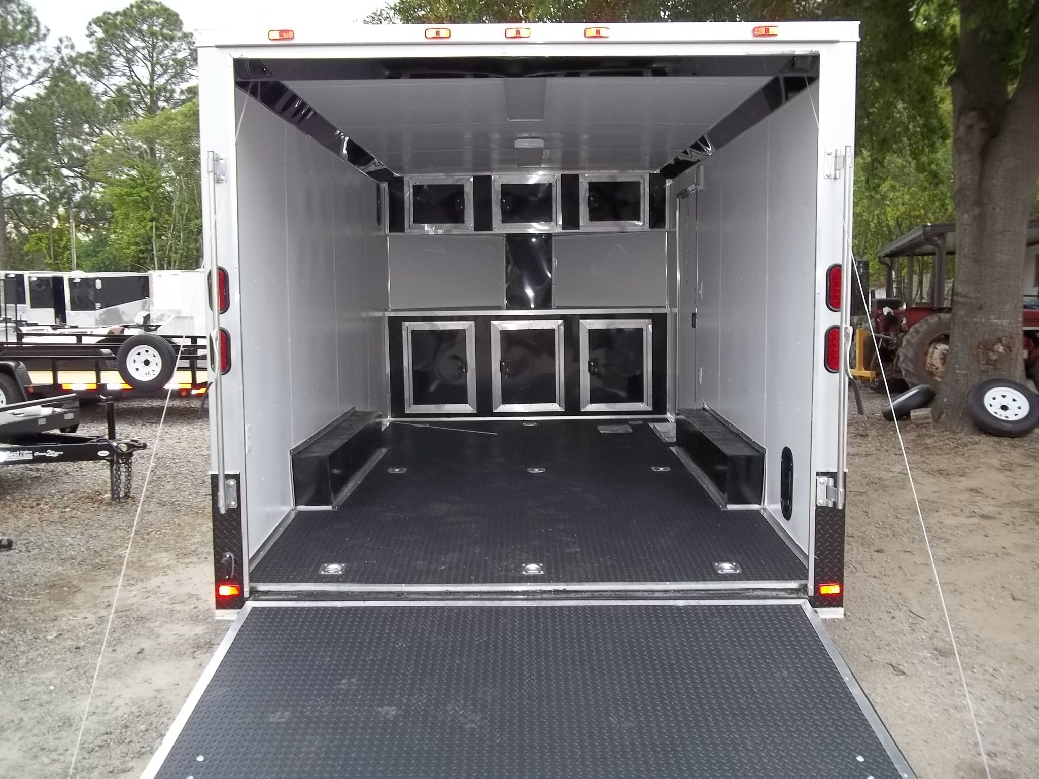 Enclosed Car Hauler Race Ready With Finished Interior And