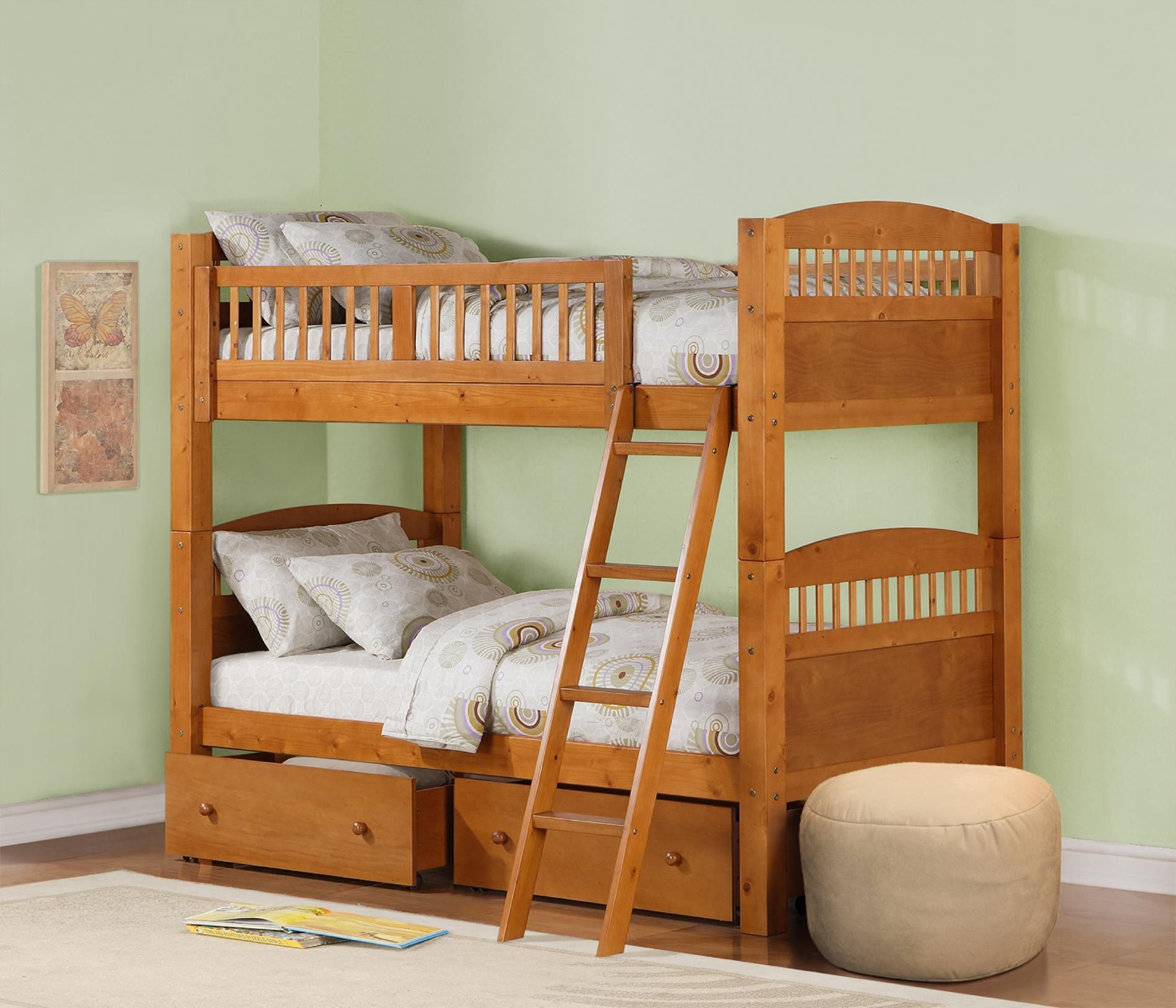Pine Bunk Bed: Sleep Well with Sears | Kid bedroom ideas | Pinterest