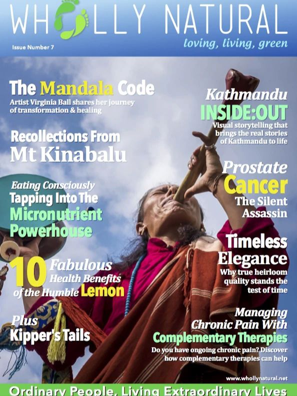 In the seven issue, a fascinating collection of articles across lots of different topics. And the ten benefits of lemon.   #whollynatural #wellness #naturallife #healthy #healthylife #naturalliving #healthymagazine #naturallife #wellbeing #mandalacode #Kathmandu #micronutrients #eatingconsciously #consciousconsumption #happyheart #biofood #vegan #naturalfood