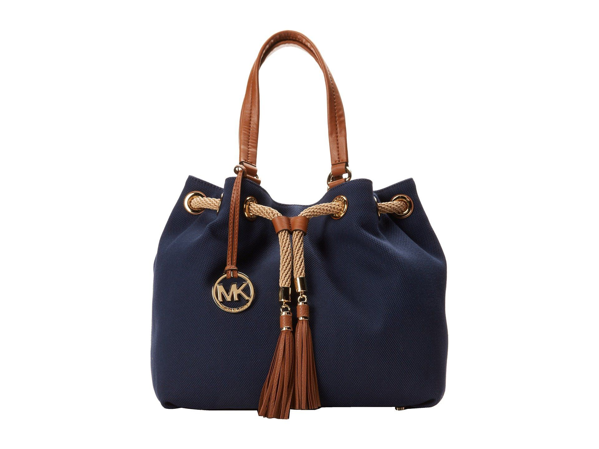 MICHAEL Michael Kors Marina Large Gathered Tote, Navy: Handbags: Amazon.com