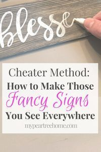 Cheater Method: How to Make a DIY Sign -   23 diy crafts to