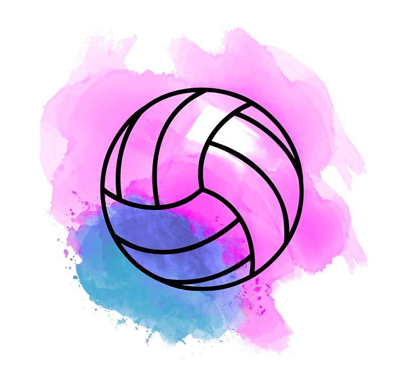 Volleyball Watercolor Sticker by José Ricardo