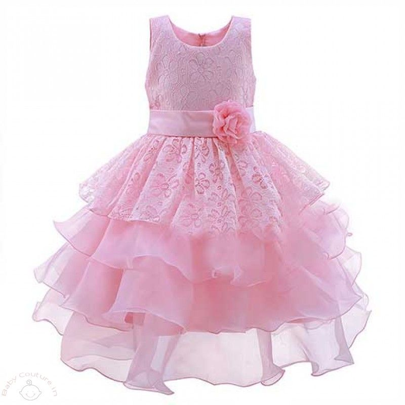 Pink Fairytale Bloom Kids Party Dress | Baby Birthday Dresses Online ...
