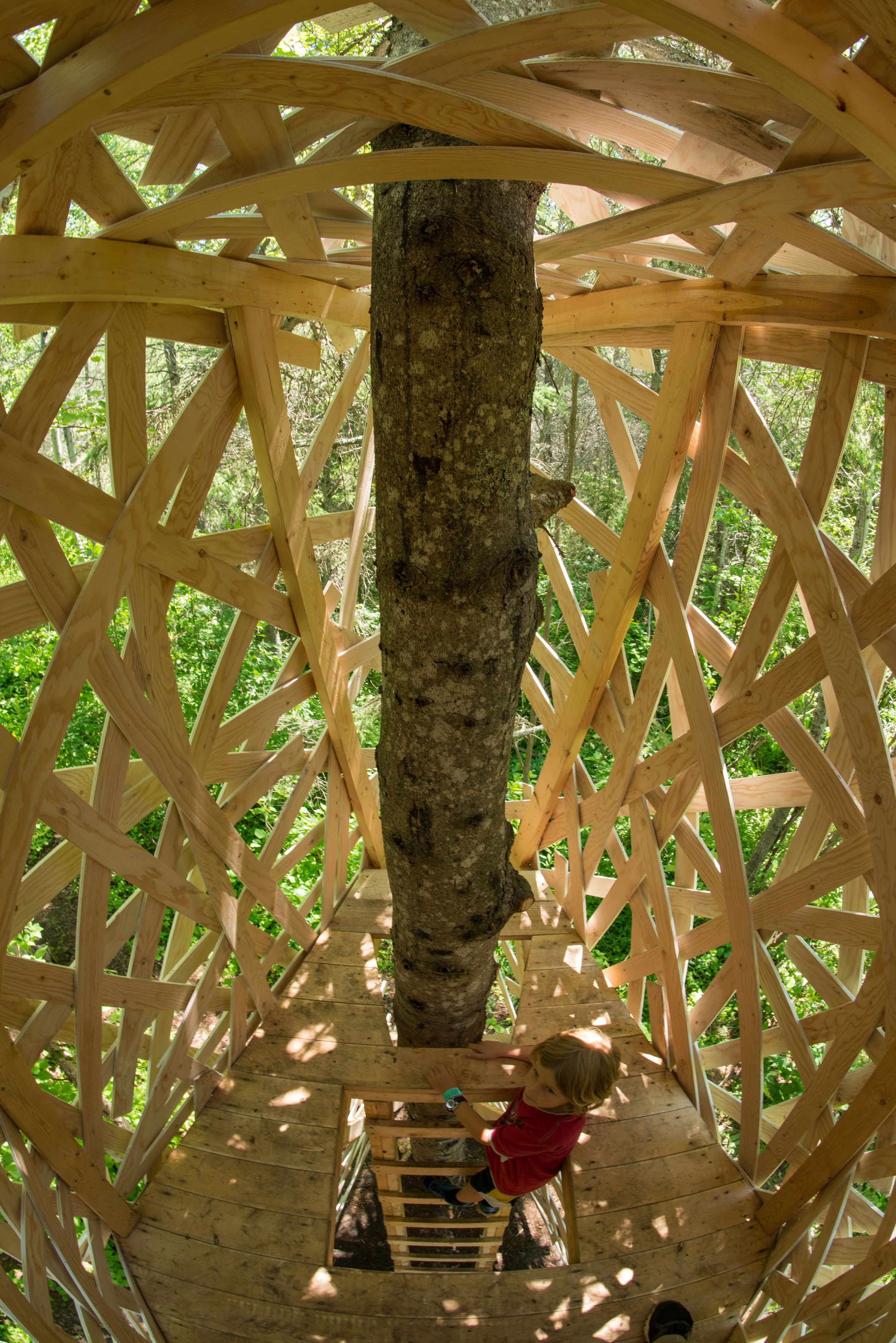 Windswept ribbons and giant cocoon among installations at Quebec ...