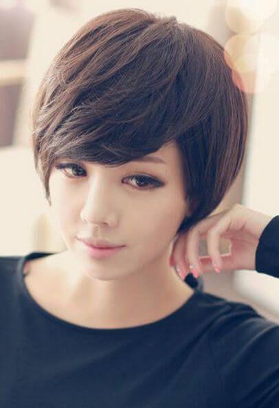 Peinados para cara redonda en cabello corto