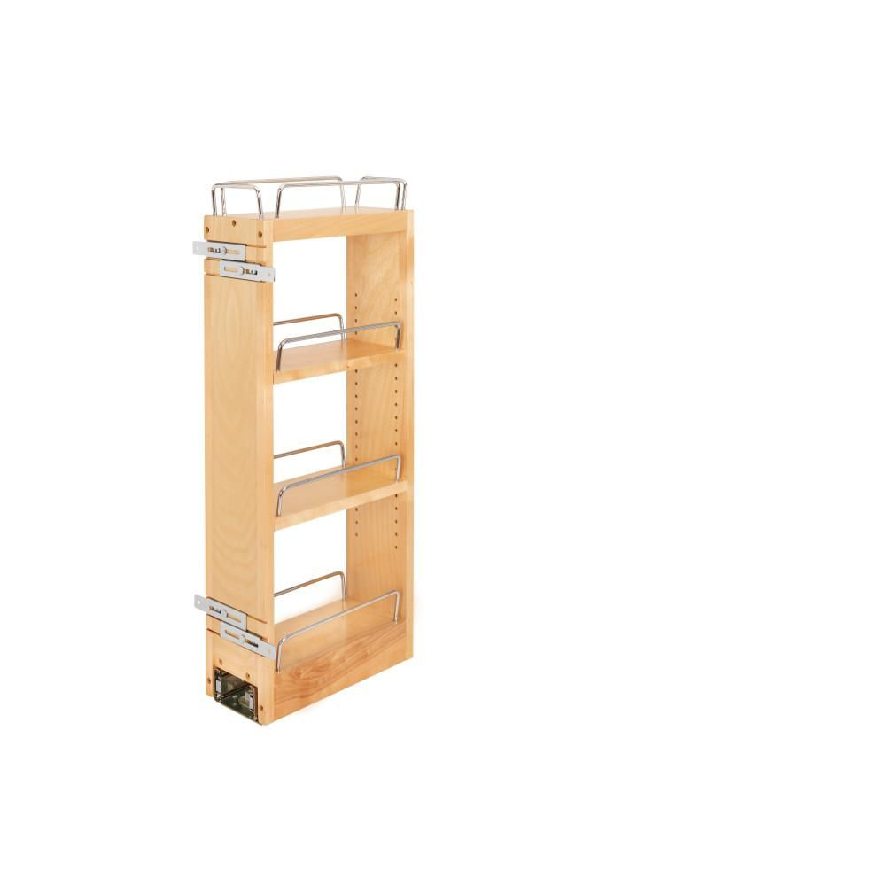 Rev A Shelf 57 In H X 12 In W X 7 5 In D Wood Swing Out Cabinet