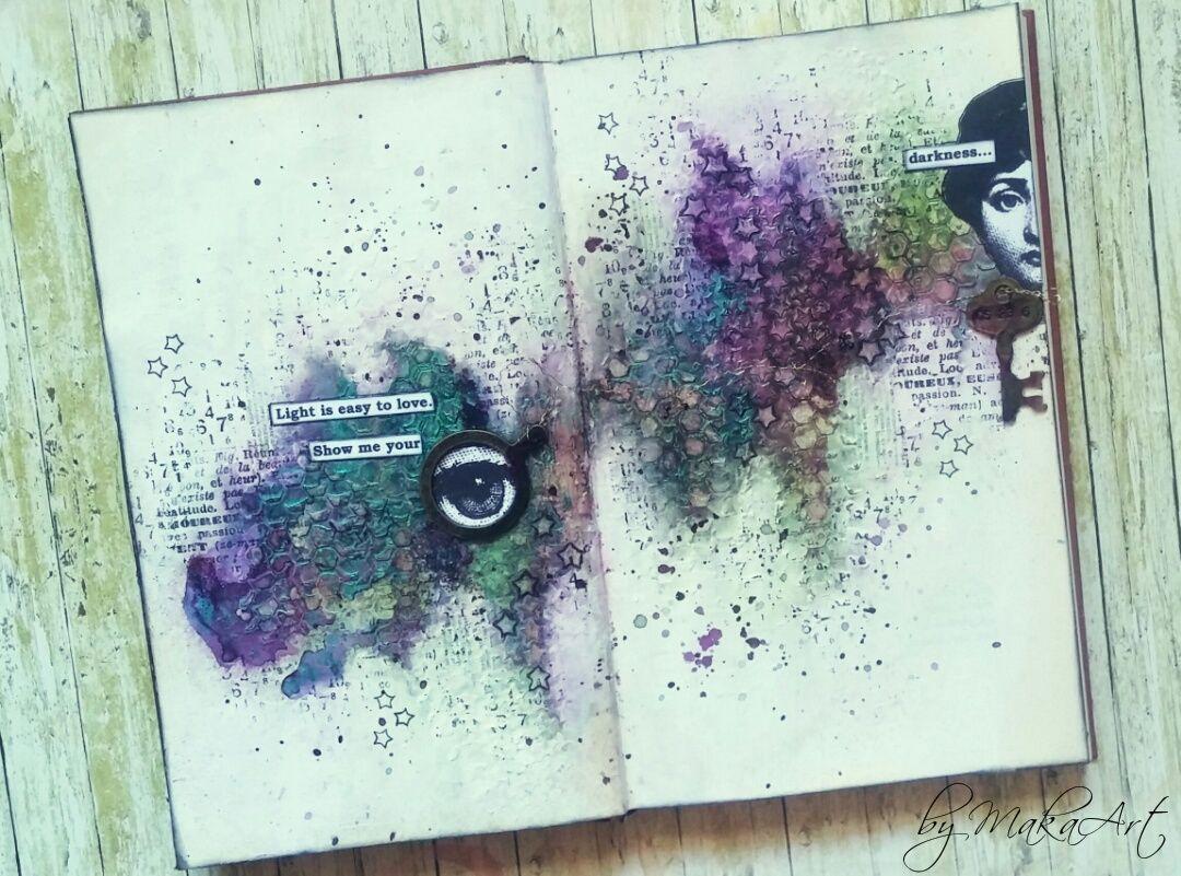 """My art journal """"Secret""""  Októbrováart  journalvýzva na ArtGrupa ATC  je opäť  mimoriadne zaujímavá a skvelá. Tentokrát pochádza od Denisky  a téma má názov  ..."""