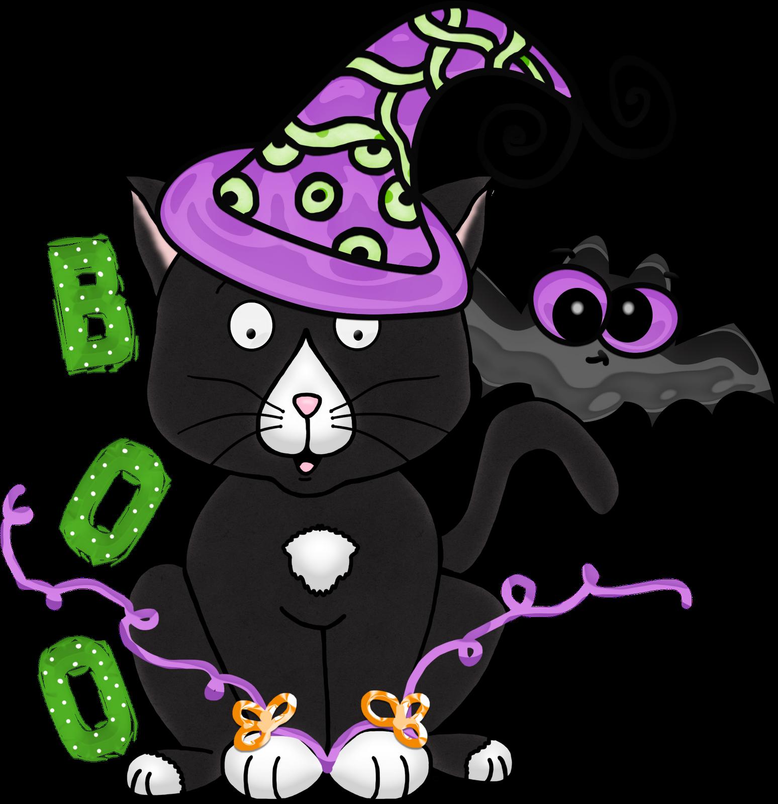 Free Halloween Kitty Clipart from the 3 AM Teacher ...