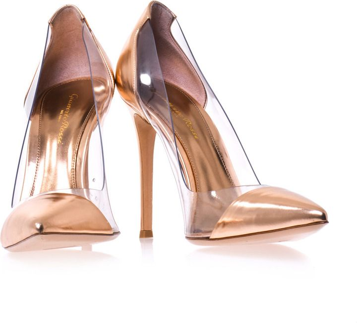 $304 #SaleAlert: Gianvito Rossi Exclusive leather and PVC pumps on shopstyle.com  /