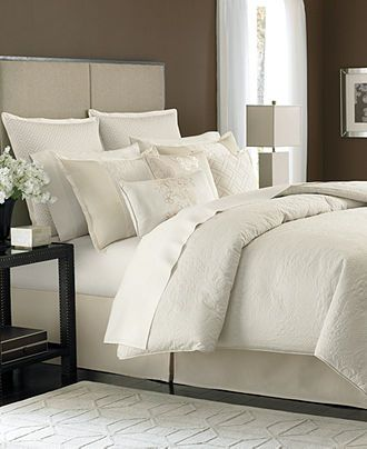 Martha Stewart Collection Bedding Marble Flowers 9 Piece King Comforter Set